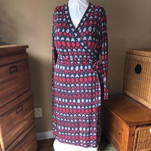 Boden LONG Wrap Dress 16Long